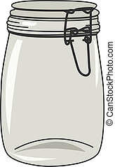 Jar - Vector illustration of empty jar