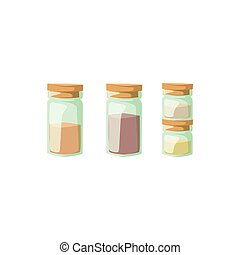 Jar with cooking spices vector illustration.