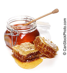 Jar with fresh honey