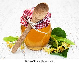 Jar with honey