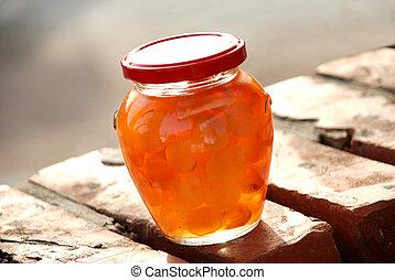 Jar with jam