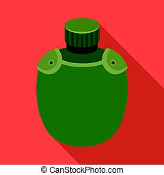 Jar with water in the case.African safari single icon in flat style vector symbol stock illustration web.