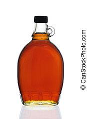 jarabe de arce, botella