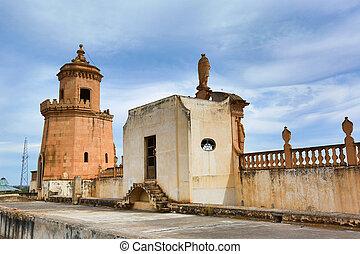 jaral de berrio hacienda rooftop tower - architectural...