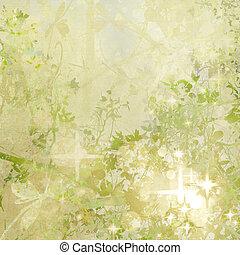 jardín, arte, sparkly, plano de fondo, textured