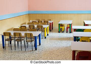 jardín de la infancia, cafeteria, refectorio