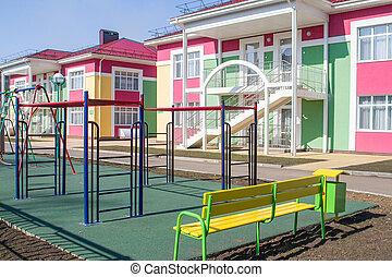 jardín de la infancia, eduque campo juegos
