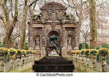 jardín, esculturas, luxemburgo