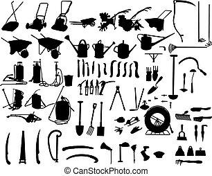 jardín, instrumentos