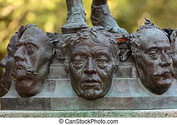 jardín, palacio, parís, luxemburgo, francia, estatua
