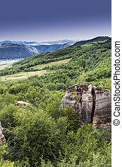 jardín, rumania, dragones, maravilloso, lugar, detalles, cumbre, transylvania