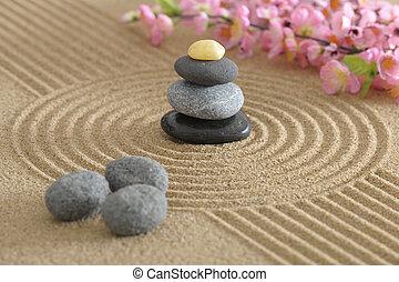 Piedra zen arena armon a fotos de archivo buscar - Arena jardin zen ...