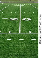 jarda, campo futebol americano, americano, 20, linha