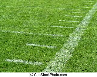 jarda, futebol, linhas, sideline