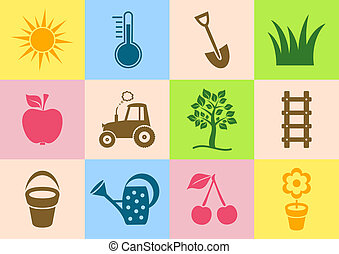 jardim, ícones