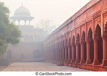 jardim, índia, arquitetura, agra, mughal, charbagh, ou