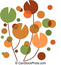 jardim flor, coloridos, abstratos, -, 1