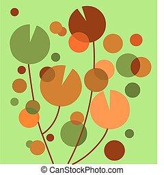 jardim flor, coloridos, abstratos, experiência verde, -2