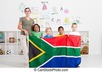 jardim infância, africano sul