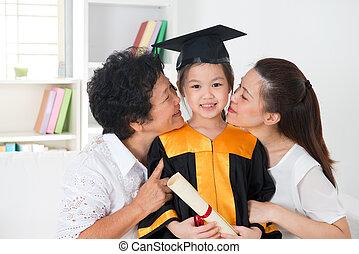 jardim infância, graduation.