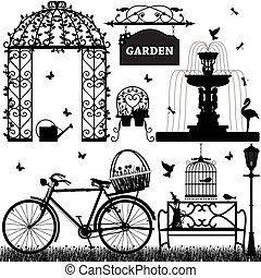jardim, parque, recreacional