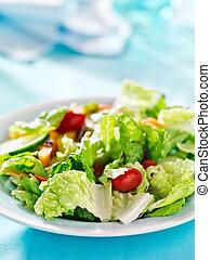 jardim, salada, espaço, legumes, fresco, cópia, Composição
