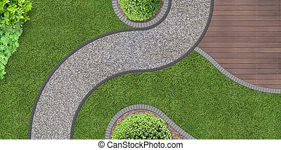 jardin, au-dessus