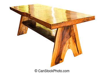 jardin, bois, isoler, teak, fond, modèle, blanc, meubles