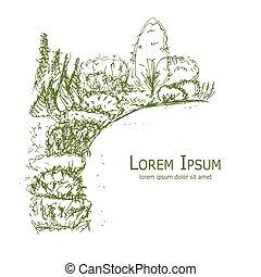 Croquis jardin croquis papier jardin chinois for Conception jardin chinois