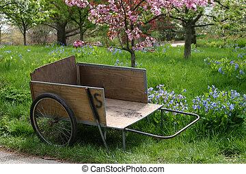 jardin, charrette