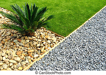 jardin, conception, paysage