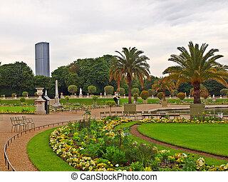jardin, de, люксембург, в, париж