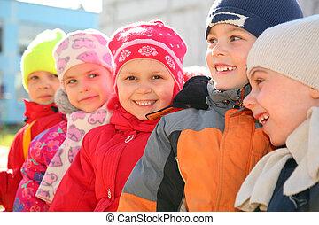 jardin enfants, équipe