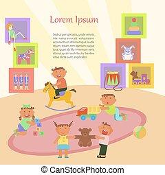 jardin enfants, enfants jouer