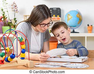 jardin enfants, jouer, apprentissage