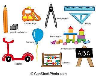 jardin enfants, jouets