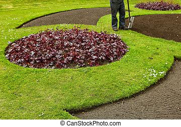 jardin, fonctionnement, homme
