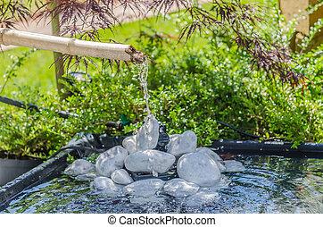 pierre bassin fontaine japonaise bambou pierre image recherchez photos clipart. Black Bedroom Furniture Sets. Home Design Ideas