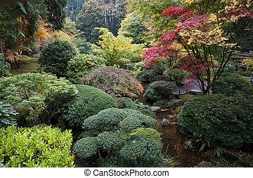 jardin japonais, portland, orégon