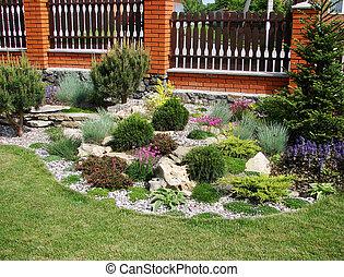 jardin, maison