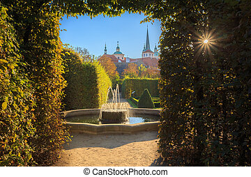 Banques de photographies de prague jardin wallenstein for Jardin wallenstein prague