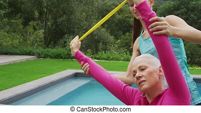 jardin, personne âgée femme, exercisme
