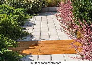 jardin pierre, sentier