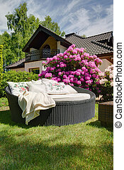 jardin, repos