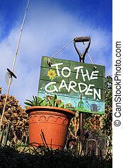jardin, signe
