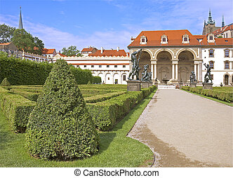 Jardin prague wallenstein jardin mur prague for Jardines wallenstein