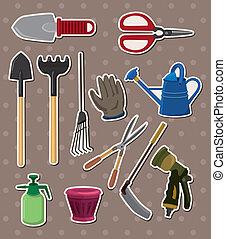 jardinage, autocollants