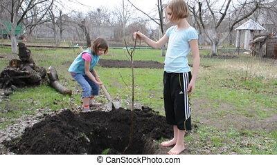 jardinage, enfants