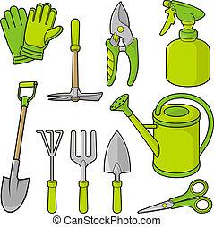jardinage, icônes