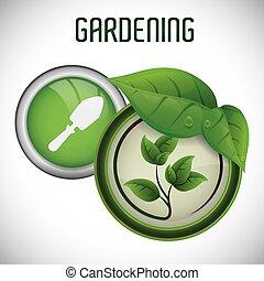 jardinagem, desenho
